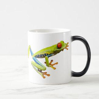 Red eyed tree frogs magic mug