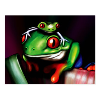 Red Eyed Tree Frogs Postcard