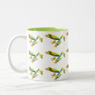 Red eyed tree frogs Two-Tone coffee mug
