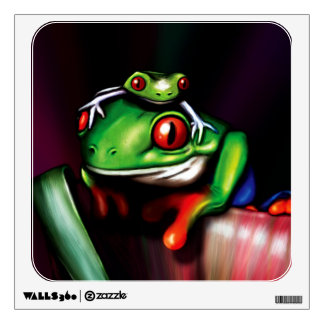 Red Eyed Tree Frogs Wall Sticker