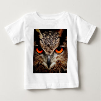 Red Eyes Eagle Owl Baby T-Shirt