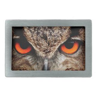 Red Eyes Eagle Owl Belt Buckle