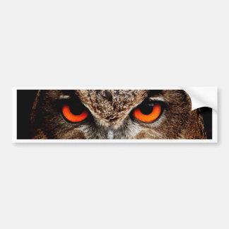 Red Eyes Eagle Owl Bumper Sticker