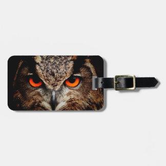 Red Eyes Eagle Owl Luggage Tag