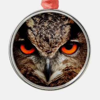 Red Eyes Eagle Owl Christmas Ornaments