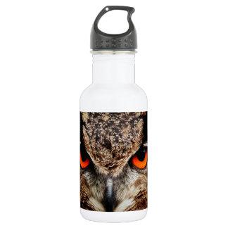Red Eyes Eagle Owl 18oz Water Bottle