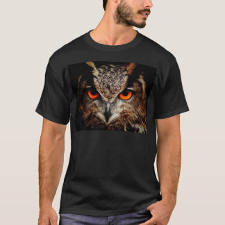Red Eyes Eagle Owl T-Shirt