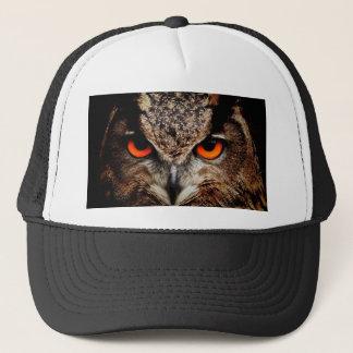 Red Eyes Eagle Owl Trucker Hat