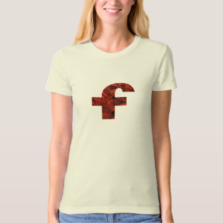 red f ~ red heart THE FIRST MANIFESTO of FLomm T-shirt