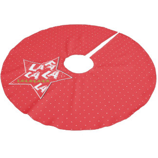 Red Fa La La Fabulous Holiday Polka Tree Skirt