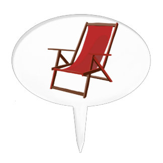 red fabric beach chair.png cake topper