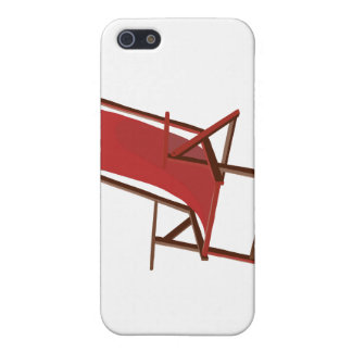red fabric beach chair.png case for iPhone 5