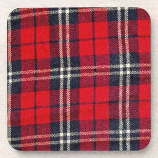 red Fabric Checks modern design trend latest style Drink Coaster