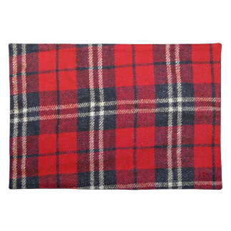 red Fabric Checks modern design trend latest style Place Mats