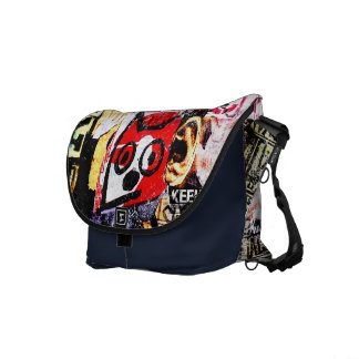 Red Face Riff Cat - Messenger Bag