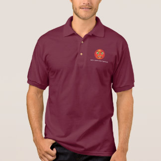 Red faced and angry polo t-shirt