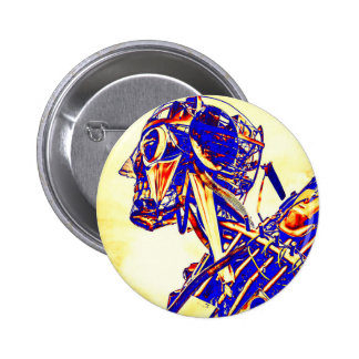 Red Faced Man Pinback Button