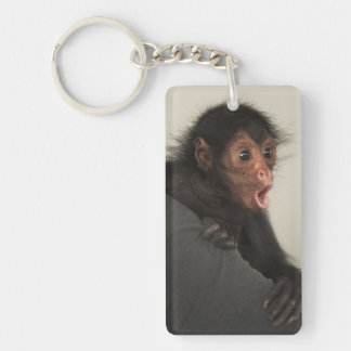 Red-faced Spider Monkey Ateles paniscus) Double-Sided Rectangular Acrylic Keychain