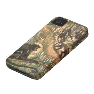 Red Faced Spider Monkeys by Louis Sargent Case-Mate iPhone 4 Case
