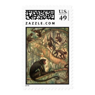 Red Faced Spider Monkeys by Louis Sargent Postage