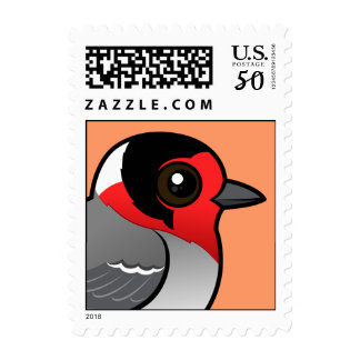 Red-faced Warbler Postage