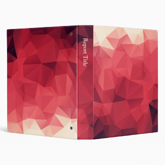 Red Facets of Wine Colors 3 Ring Binders