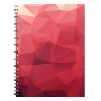 Red Facets of Wine Colors Spiral Note Book