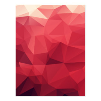 Red Facets of Wine Colors Postcard