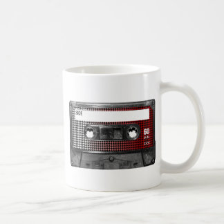 Red Fade Houndstooth Label Cassette Coffee Mug