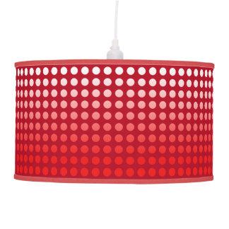 Red Fade Polka Dot Pendant Lamp