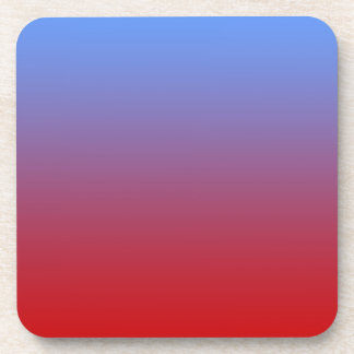 Red fading to Blue Colors, simple design. Drink Coaster