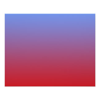 """Red fading to Blue Colors, simple design. 4.5"""" X 5.6"""" Flyer"""