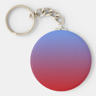 Red fading to Blue Colors, simple design. Key Chains