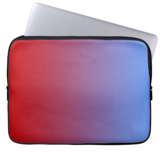 Red fading to Blue Colors, simple design. Laptop Sleeve