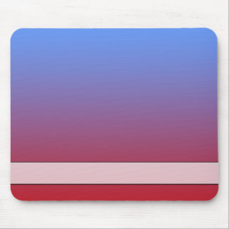 Red fading to Blue Colors, simple design. Mouse Pad