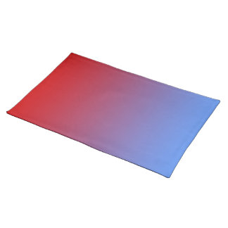 Red fading to Blue Colors, simple design. Placemat