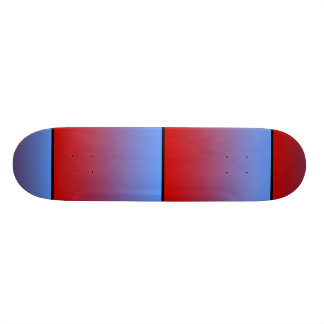 Red fading to Blue Colors, simple design. Skateboard Deck