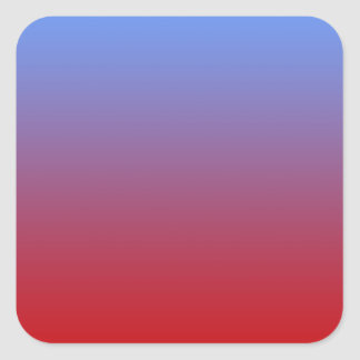 Red fading to Blue Colors, simple design. Square Sticker
