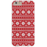Red Fair Isle Christmas Sweater Pattern Barely There iPhone 6 Plus Case