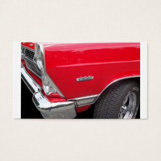 Red fairlane 289 side marker with red paint business card
