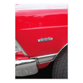 Red fairlane 289 side marker with red paint card