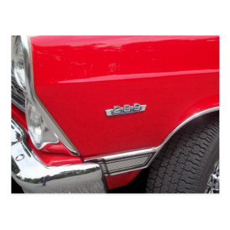 Red fairlane 289 side marker with red paint postcard