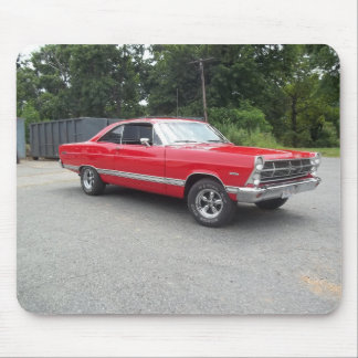 Red fairlane 289 sweet ride with racing wheels mouse pad