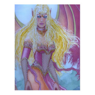 Red fairy Dragon Queen Postcard