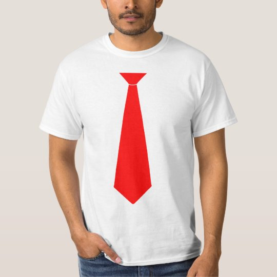 Red Fake Tie T-Shirt