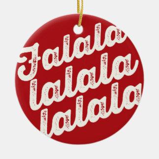 Red Falalalala Christmas Holiday Photo Ornament