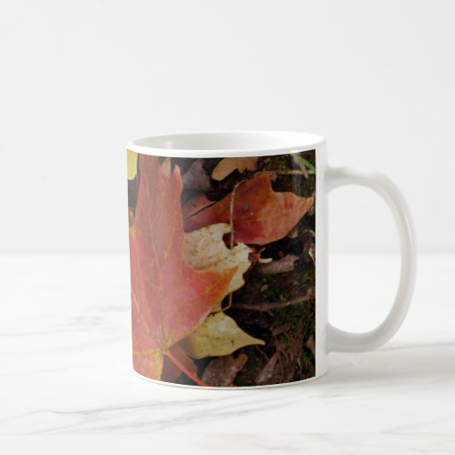 Red Fall Leaf Mug