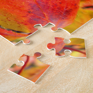 Red Fall Leaves 8x10 Photo Puzzle with Gift Box