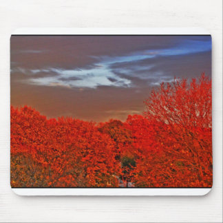 Red Fall Mouse Pad