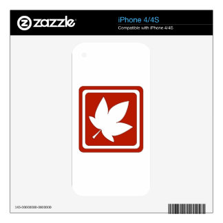 Red Fall Sign Skins For iPhone 4S